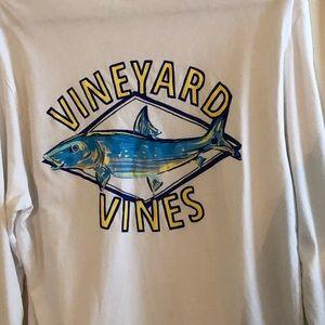 Vineyard Vines Fish Long Sleeve T-Shirt, Small